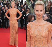 Lady Victoria Hervey pokazała majtki i sutki w Cannes