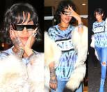 Rihanna w T-shircie i szynszylach (ZDJĘCIA)