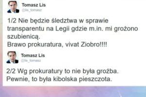 "Lis: ""Nie będzie śledztwa. Brawo prokuratura, vivat Ziobro!"""