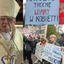 """Metropolita krakowski krytykuje protesty kobiet: """"Były atakiem na piękno kobiecości i macierzyństwa"""""""