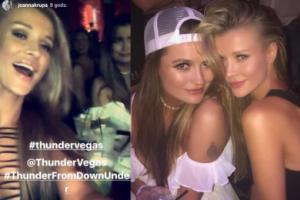 Dżoana Krupa bawi się na wieczorze panieńskim siostry w Las Vegas (ZDJĘCIA)