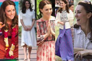 Zobaczcie WSZYSTKIE stylizacje Kate Middleton z Indii! (ZDJĘCIA)