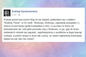 """Saramonowicz o radnym Greleckim: """"Pisowski ch... z Krakowa"""""""