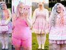 Najsłodsza blogerka XXL pozuje w cukierkowych sukienkach (ZDJĘCIA)