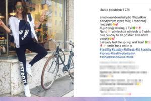 Lewandowska tydzień po porodzie wsiada na rower?