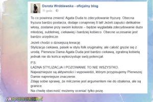 Agata Duda na spotkaniu z Williamem i Kate. Dorota Wróblewska komentuje