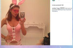 Ada Fijał przebrana za króliczka