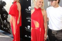 Pamela Anderson z 21-letnim synem na ściance