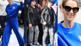 Celine Dion w za dużym dresie i jej wystylizowani synowie na zakupach w Paryżu (ZDJĘCIA)