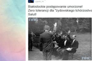 """Ksiądz Międlar świętuje: """"Zero tolerancji dla żydowskiego tchórzostwa! Salut!"""""""