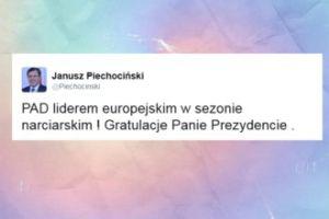 Janusz Piechociński śmieje się z Dudy