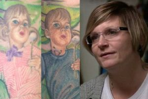 Kobieta zamalowała swój stary tatuaż, gdy okazało się, że jej córka chce zmienić płeć