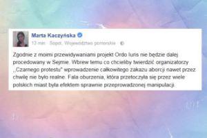 """Marta Kaczyńska o """"Czarnym Proteście"""": """"Efekt sprawnie przeprowadzonej manipulacji"""""""