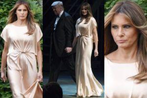 Elegancka Melania Trump w jedwabnej sukience za 15 tysięcy (ZDJĘCIA)
