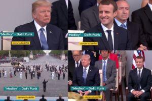 Francuzi świętują Dzień Bastylii... piosenkami Daft Punk. Mina Trumpa bezcenna! (WIDEO)