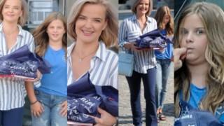 Zadowolona Zamachowska z 12-letnią córką robią tosty w TVP (ZDJĘCIA)