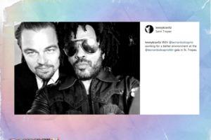 Lenny Kravitz chwali się zdjęciem z DiCaprio