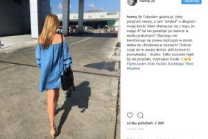 """Hania Lis broni długości swojej """"kiecki"""""""