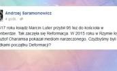 Andrzej Saramonowicz o wyznaniu księdza-geja