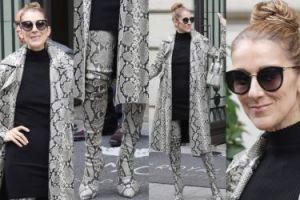 Celine Dion w kolejnym płaszczu Z PYTONA i butach do uda za 26 TYSIĘCY (ZDJĘCIA)