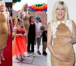 Tori Spelling w piątej ciąży na rodzinnej imprezie (ZDJĘCIA)