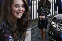 Kate Middleton w sukience w kwiatki