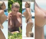 Koszmar na wakacjach: OGROMNE piersi Katie Price kąpią się na Malediwach... (ZDJĘCIA)