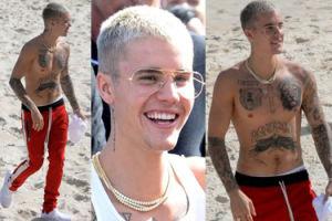 Justin Bieber chwali się NOWYMI TATUAŻAMI w Brazylii! (ZDJĘCIA)