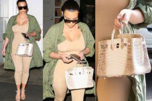 Kim Kardashian ma torbę ze skóry... KROKODYLA-ALBINOSA za pół miliona! (FOTO)