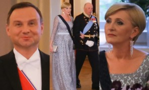 Zadowolony Andrzej Duda z żoną na balu u króla Norwegii! (ZDJĘCIA)