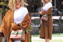 #TRENDY: Khloe Kardashian w karmelowym płaszczu