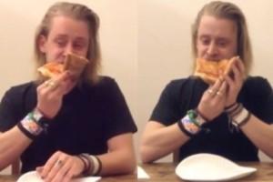 Macaulay Culkin... je pizzę. Przez 4 minuty!