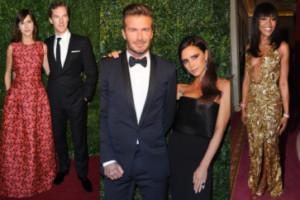 Beckhamowie, Naomi i Cumberbatch na imprezie w Londynie! (ZDJĘCIA)