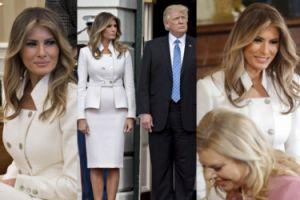 Melania Trump PO RAZ PIERWSZY w Białym Domu od zaprzysiężenia Donalda Trumpa! (ZDJĘCIA)