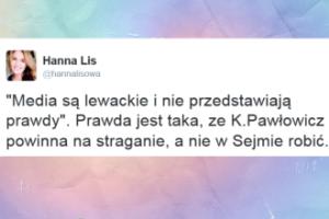 """Hanna Lis: """"Pawłowicz powinna na straganie, a nie w Sejmie robić"""""""