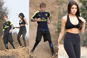 Justin Bieber biega w Hollywood z Madison Beer (ZDJĘCIA)