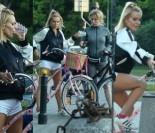 Doda na różowym rowerze z Anetką (ZDJĘCIA)