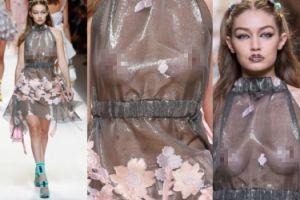 """Gigi Hadid """"uwalnia sutki"""" na wybiegu w Mediolanie (ZDJĘCIA)"""
