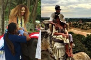 Beyonce na egzotycznych wakacjach! (FOTO)
