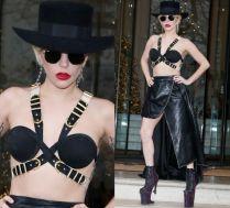 Lady Gaga w staniku spaceruje po Londynie