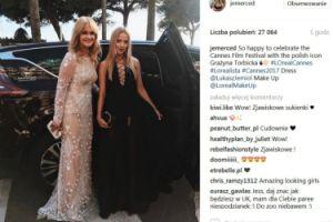 Grażyna Torbicka i Jessica Merdeces pozują razem w Cannes