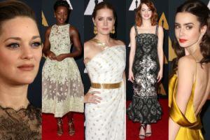Marion Cotillard, Lupita Nyong'o i Emma Stone na czerwonym dywanie w Hollywood (ZDJĘCIA)