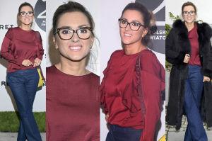 Szczupła Karolina Szostak w okularach na ściance (ZDJĘCIA)