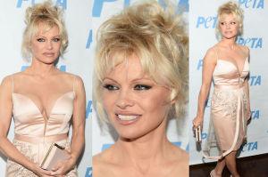 Pamela Anderson w bladym różu na imprezie PETA (ZDJĘCIA)