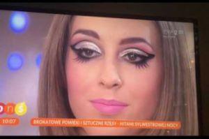 """HIT INTERNETU: PRZERAŻAJĄCY sylwestrowy makijaż w """"Pytaniu na śniadanie"""""""