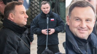 Podekscytowany Andrzej Duda na poligonie z Macierewiczem (ZDJĘCIA)