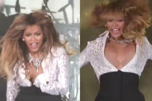 Beyonce pokazała piersi na koncercie!