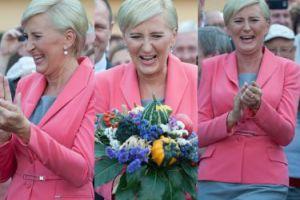 Uśmiechnięta Agata Duda na dożynkach w Spale (ZDJĘCIA)