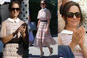 Pippa Middleton w różowych koronkach bawi się na Wimbledonie (ZDJĘCIA)