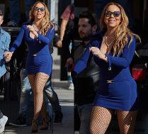 Mariah Carey pokazuje udo w siatce